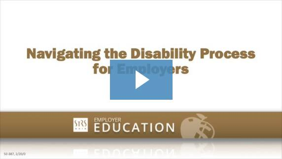 Thumbnail for the 'Navigating the Disability Process for Employers' video.